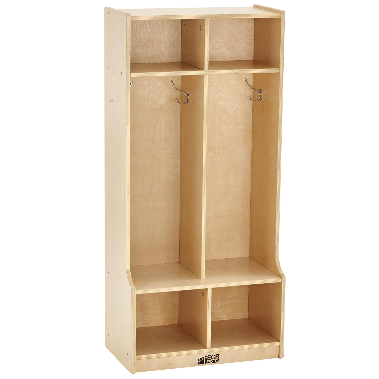 Basics Coat Locker 5-Section with Bench