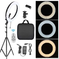 """18"""" 288pcs LED Ring Light w/ Stand Dimmable 5500K Lighting Video Continuous Light for Camera, Smartphone, YouTube, Video, Photography, Portrait Shooting"""
