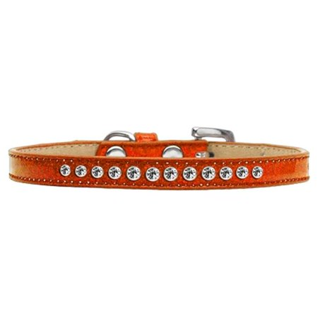 Mirage Pet 612-01 OR-14 Clear Crystal Puppy Ice Cream Collar, Orange - Size 14