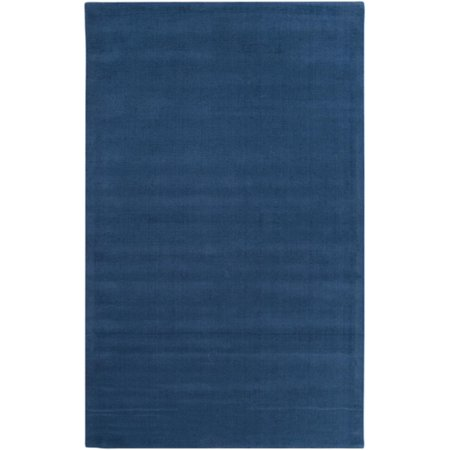 5 X 8 Rogue Love Federal Blue Hand Loomed Wool Area Throw Rug