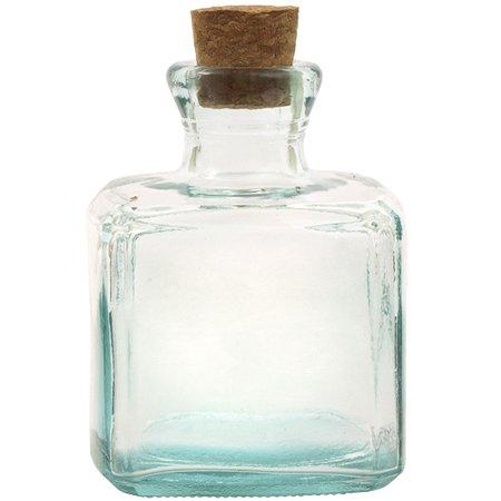 5c7aae1b76ac Couronne Co Cubic Glass Bottle, G5322, 6 Ounce Capacity