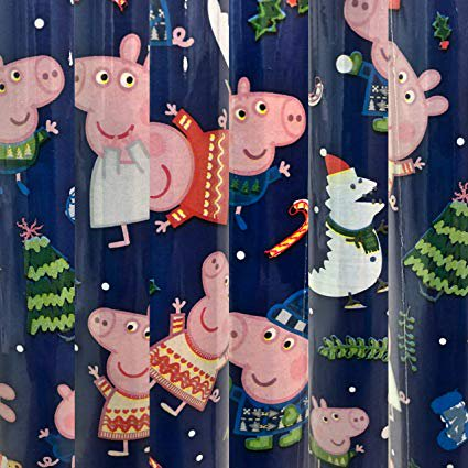 Peppa Pig Wrapping Paper (1 Roll Heavy Weight Peppa Pig Christmas Gift Wrapping Paper 60 sq)