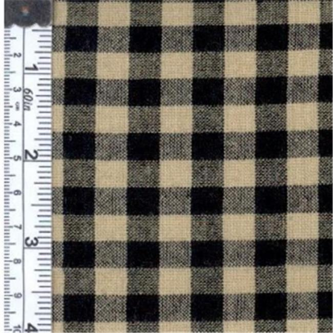Textile Creations RW7039 Rustic Woven Fabric, 0.25 In. Natural And Black Check, 15 yd.