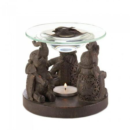 ELEPHANT OIL WARMER (33646 Porcelain Tulip Oil Warmer)