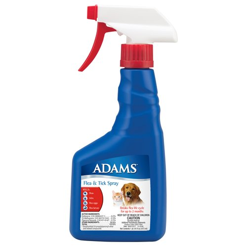 Adams Flea & Tick Spray, 16 oz