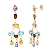 ASHER JEWELRY 14k Yellow Gold Bezel-set Multi-gemstone Earrings