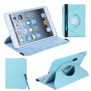 360 Degrees Rotating Protective Leather Case Skin Cover Stand for Mini Green with Stylus Pen & Screen Protector & Cleaning Cloth