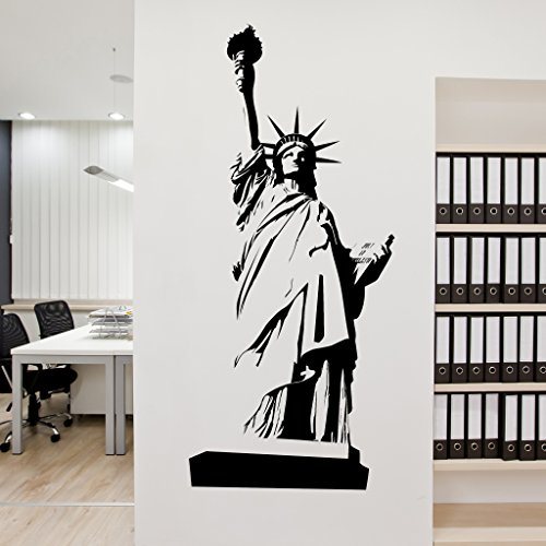 Statue of Liberty Wall Decal - Wall Sticker, Vinyl Wall Art, Home Decor, Wall Mural - SA3066-10in x 24in-Beige