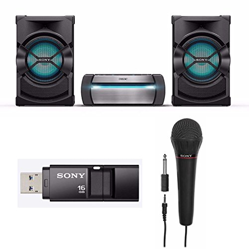 Sony SHAKEX10 High Power Home Audio System with Bluetooth (2017 Model) with Sony Mic and Sony 16GB Micro Vault USB