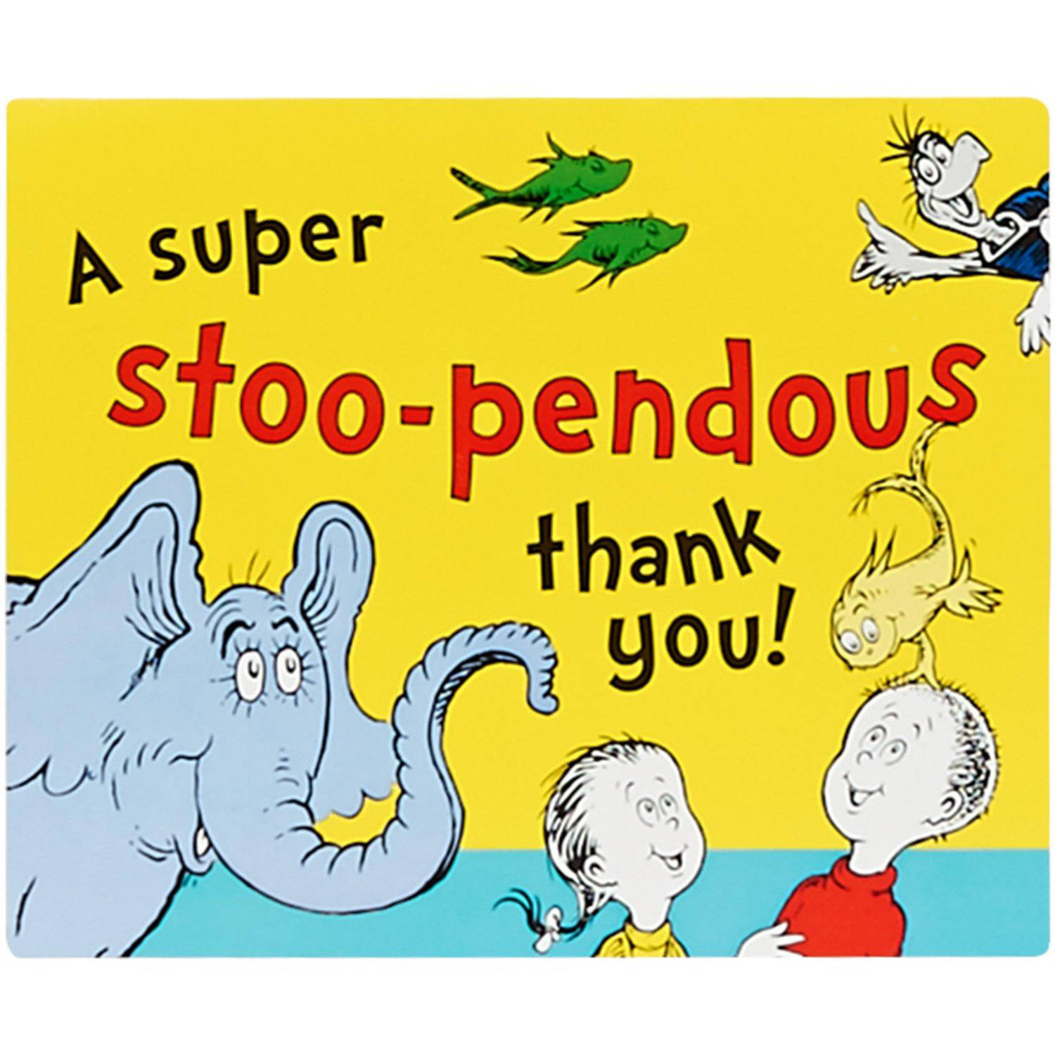 Dr. Seuss Thank-You Notes, 8-Pack