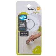 Safety 1st OutSmart Knob Covers With Decoy Button (2pk), White