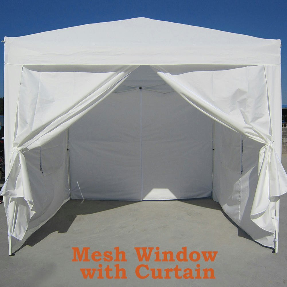 Big Sales!Quictent Privacy 8'x8' White EZ Pop Up Party Tent