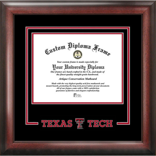 "Texas Tech Red Raiders 11"" x 14"" Spirit Diploma Frame"