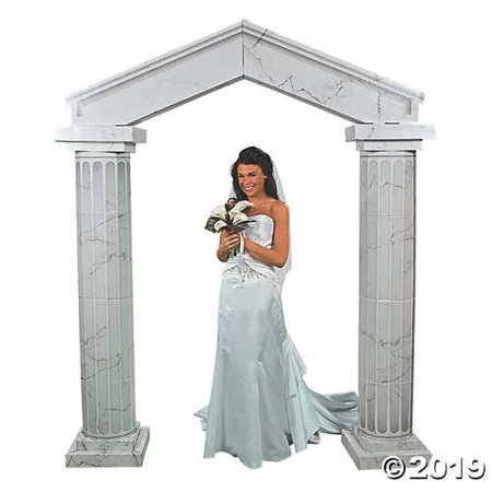 Wedding Archways (Cardboard Marble Look Fluted Archway With Columns Wedding Decoration)