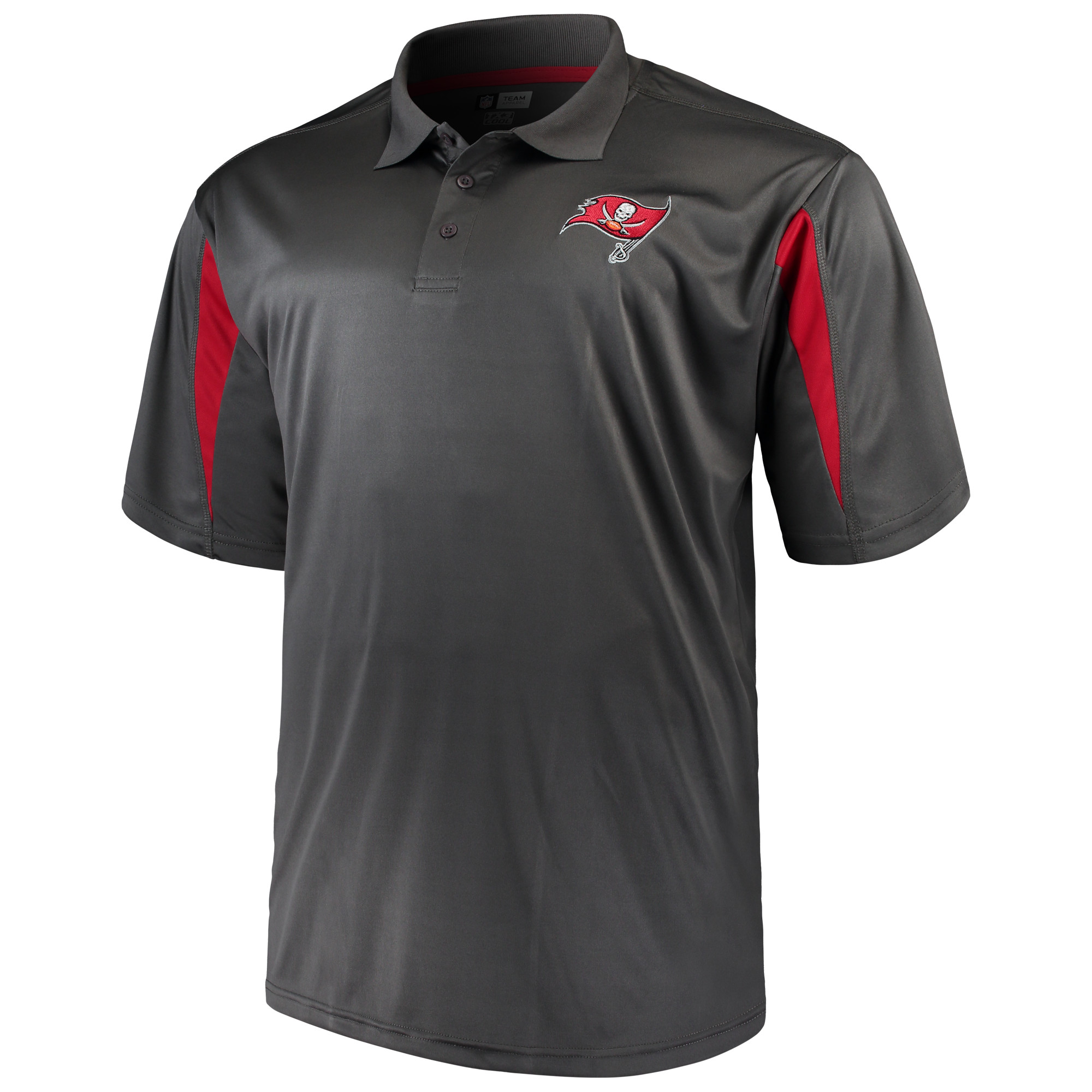 Men's Majestic Charcoal Tampa Bay Buccaneers Big & Tall Pieced Polo