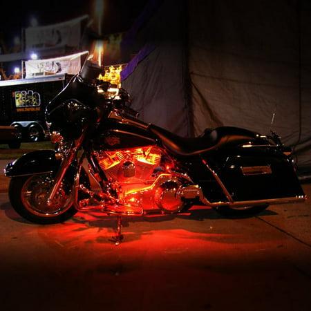Motorcycle 7 Color LED Accent Light Kit Remote For Honda CM 250 400 450 Custom - image 3 de 5