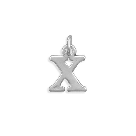 Greek Alphabet Letter Chi Charm Sterling Silver - Made in the USA