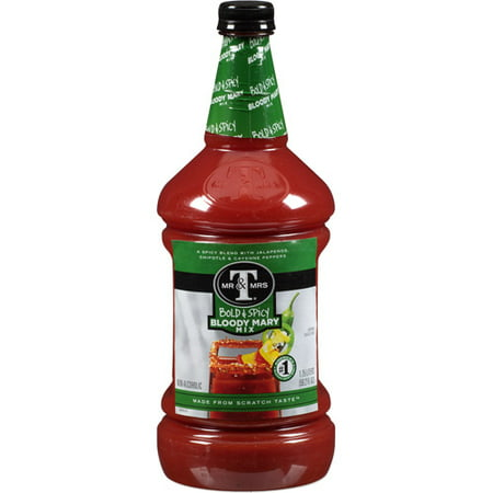 (6 Bottles) Mr & Mrs T Bold & Spicy Bloody Mary Mix, 1.75 - Halloween Bloody Mary Cocktail