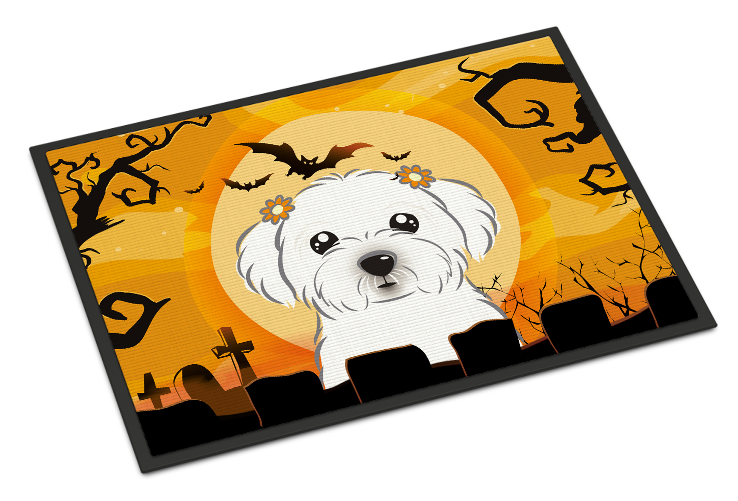 Halloween Maltese Doormat by Caroline's Treasures