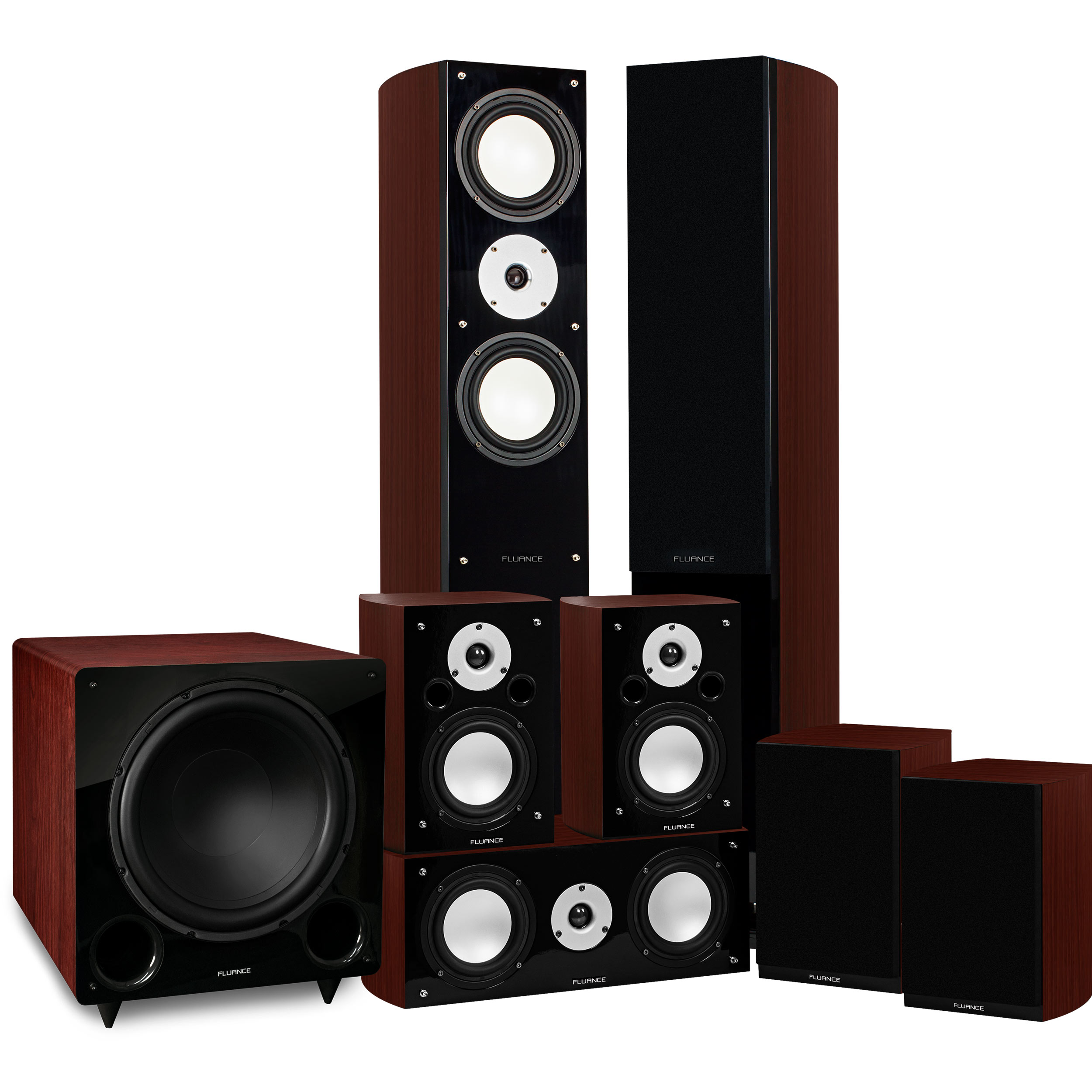 Fluance Reference Series Surround Sound Home Theater 7.1 Channel Speaker System including Three-way... by Fluance