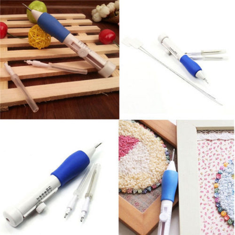 Plastic Embroidery Magic Pen Set DIY 1.3mm/1.6mm/2.2mm Punch Needle DIY Fancy