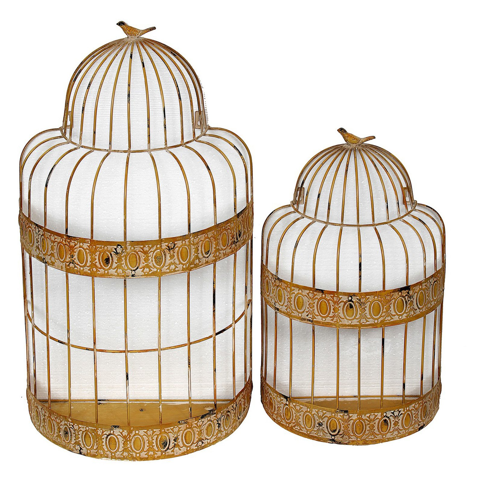Privilege International Bird Cage Wall Decor - Set of 2