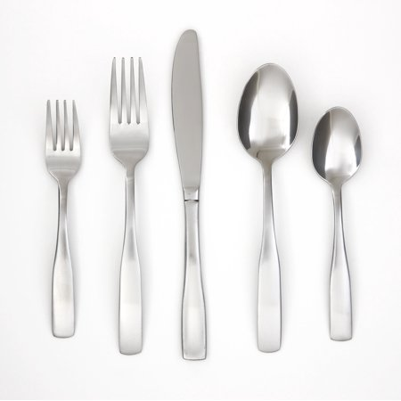 Cambridge Silversmiths Madison Satin 60-Piece Flatware Set with Chrome Buffet Storage, Service for 8 - Party Store Madison Wi