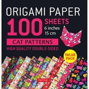 "Origami Paper 100 Sheets Cat Patterns 6"" (15 CM) : Tuttle Origami Paper: High-Quality Double-Sided Origami Sheets Printed with 12 Different Patterns: Instructions for 6 Projects Included"
