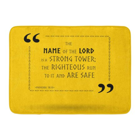 GODPOK Biblical Best Bible Quotes About The Power of Lord Holy Scripture Sayings for Study Flashcards Religion Rug Doormat Bath Mat 23.6x15.7