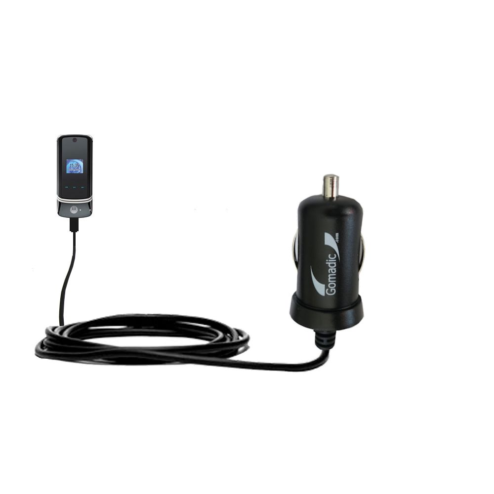 Gomadic Intelligent Compact Car Auto Dc Charger Suitable For The Simple Circuit Battery Diagram Motorola Krzr K1 2a 10w Power At Half Size Uses Tipexchange Techno