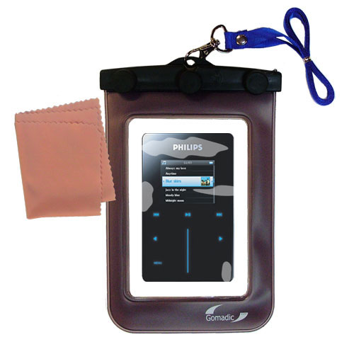 Gomadic Clean and Dry Waterproof Protective Case Suitablefor the Philips GoGear HDD6320 to use Underwater