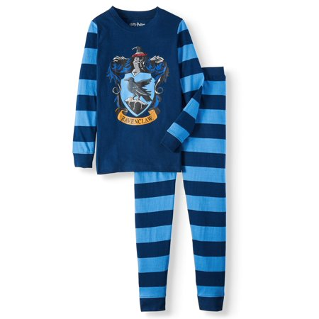 Harry Potter Girls Ravenclaw House Crest Cotton Pajama Set (Little Girls & Big Girls)](Authentic Harry Potter Robes)