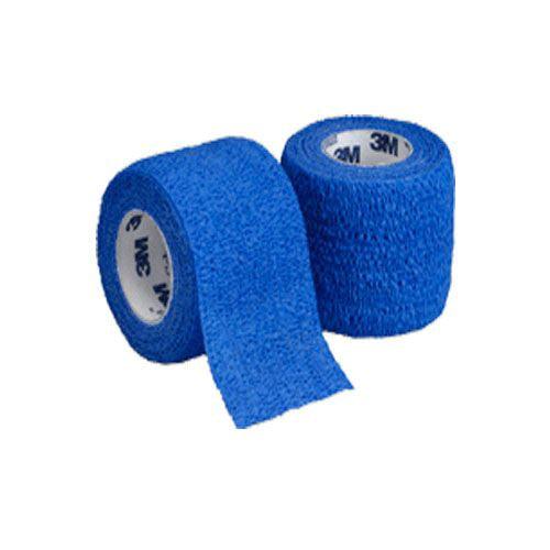 3M Coban Cohesive Bandage Standard Compression Self-adherent Closure Blue 3 Inch X 5 Yard, 10 Pack
