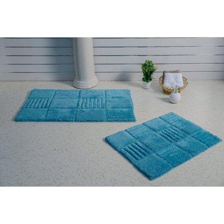 Elegance Collection Rugs - Elegance Collection Chakkar Board Bath Rug - Set of 2