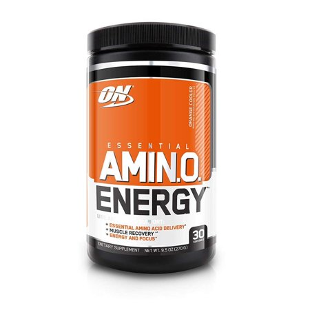 Optimum Nutrition Amino Energy Pre Workout + Essential Amino Acids Powder, Orange Cooler, 30