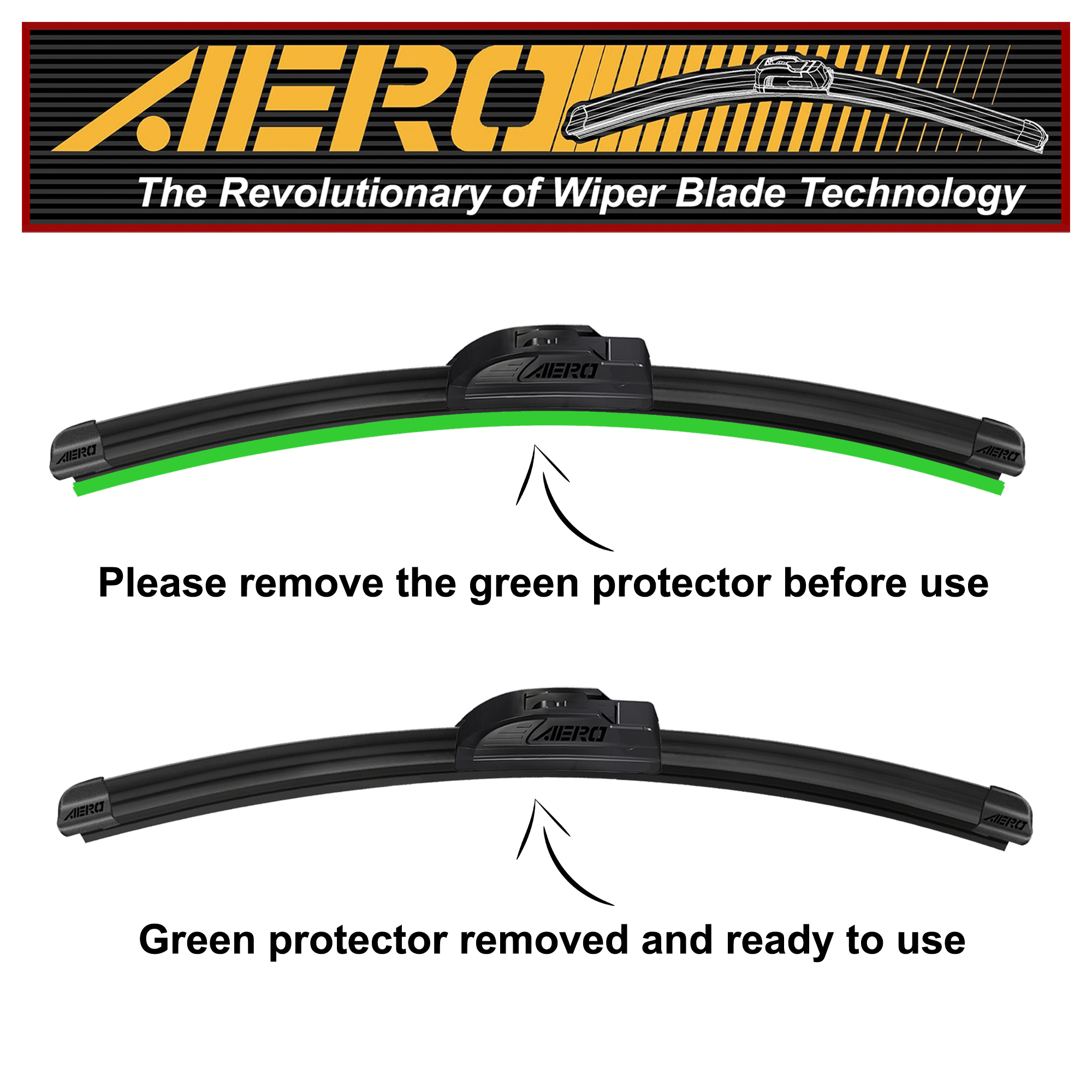 19 OEM Quality All Season Beam Windshield Wiper Blades Set of 2 AERO 26