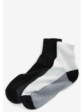 ad8e883723d Product Image Kingsize Men s Big   Tall 3-pack 1 4 Length Cushioned Crew  Socks
