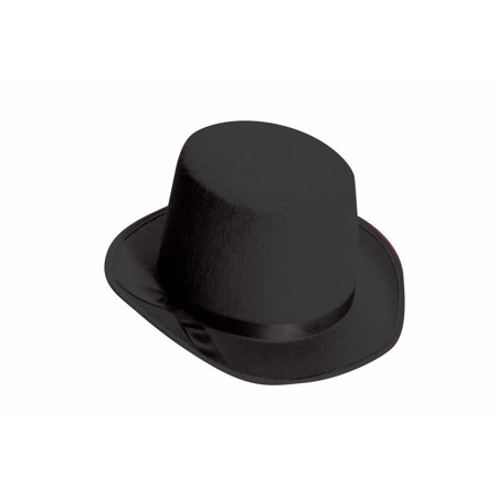 Deluxe Top Hat Black Felt Formal Roaring 20s CHILD Costume Accessory - 20s Costume