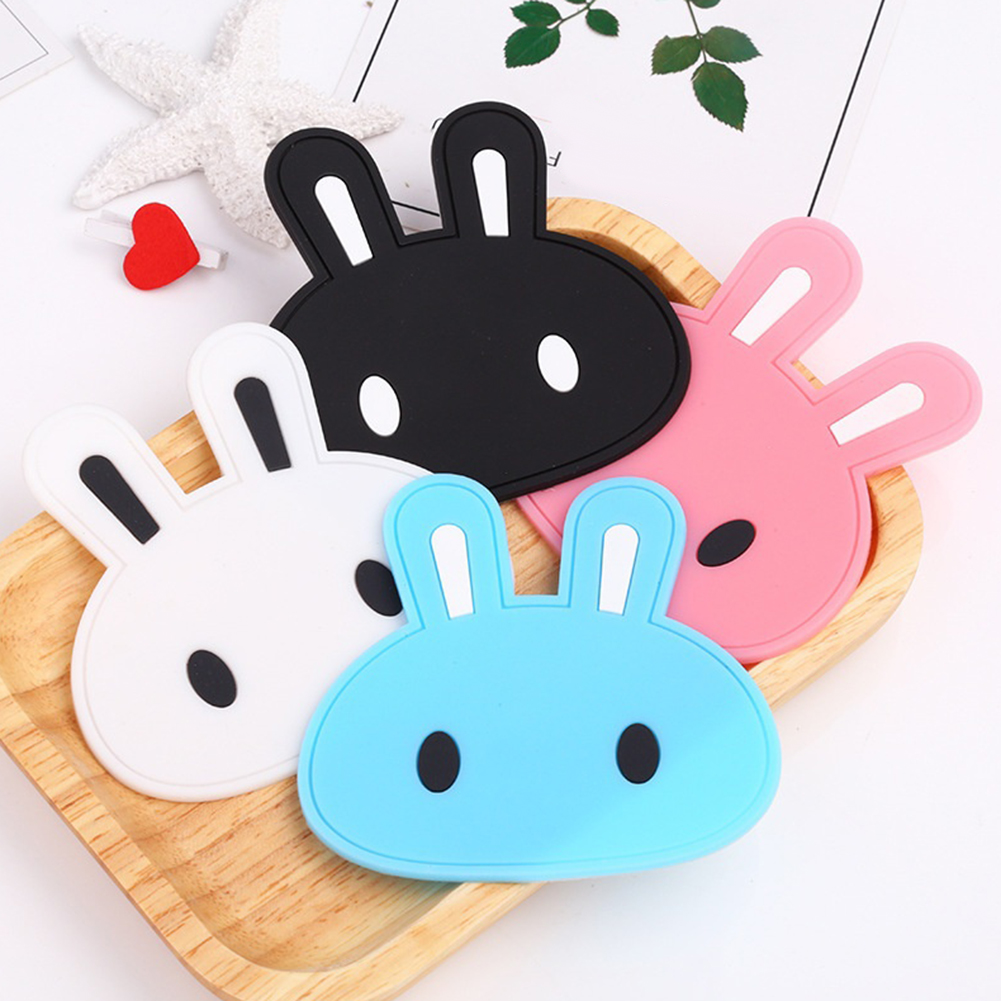 Micelec Cartoon Rabbit Tea Coaster Cup Holder Mat Coffee Drinks Silicone Decor Pad