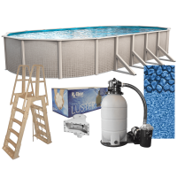 Impressions Oval Above-Ground Swimming Pools | Full Start-Up Kit {Choose Size}