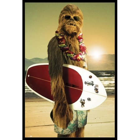 - Star Wars Chewbacca Chewbacca - Surf Board Poster Poster Print