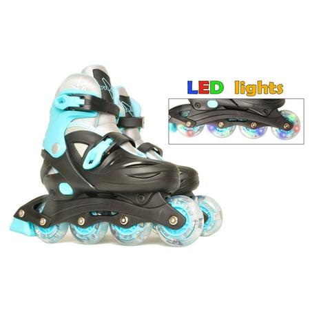 Lights For Roller Skates (Vilano Adjustable Inline Skates for Boys or Girls,)