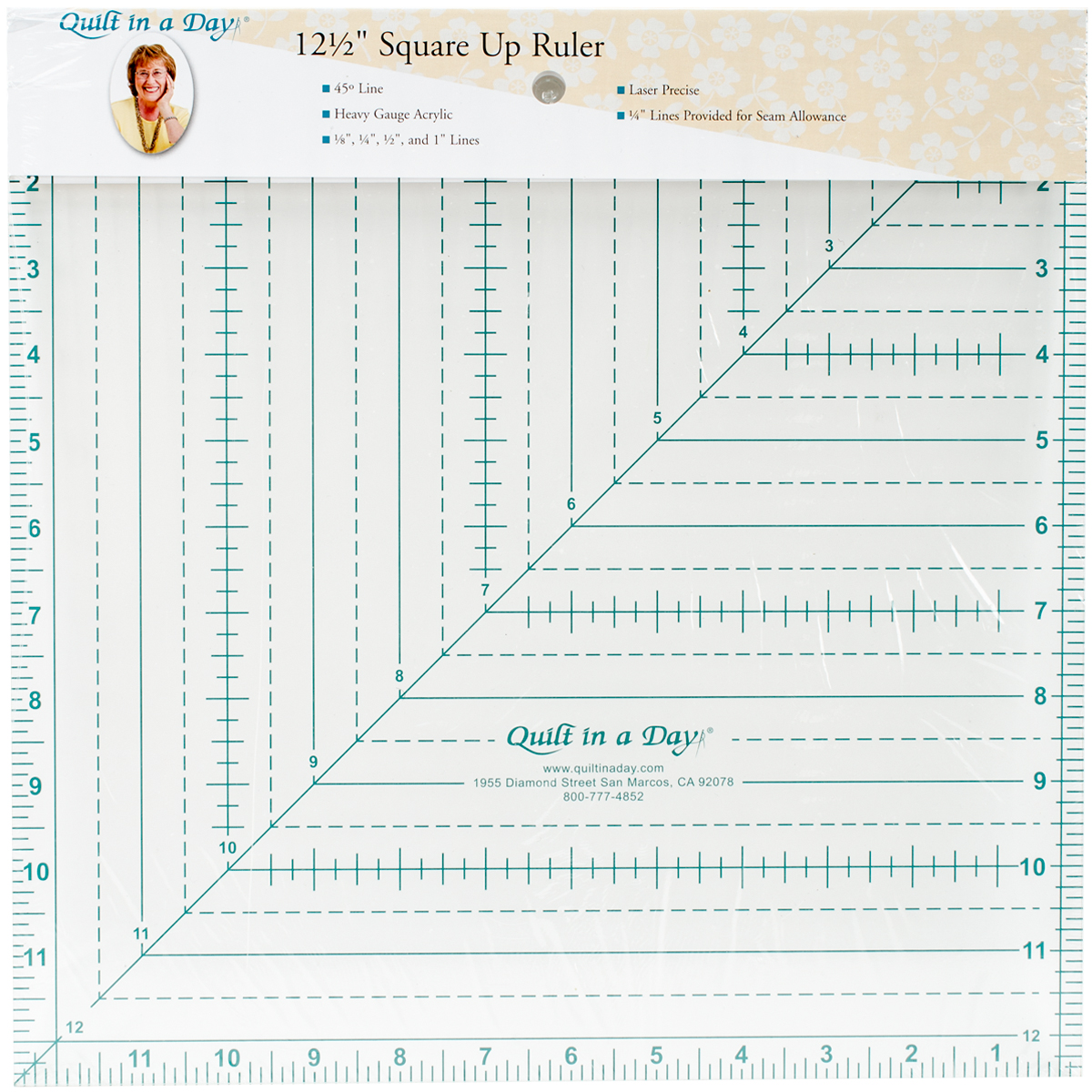 "Quilt In A Day Square N' Fussy Ruler-1-1/2"" To 9-1/2"""