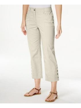 d15493988a3 Product Image JM Collection Petite Cropped Snap-Button Pants Size 16P