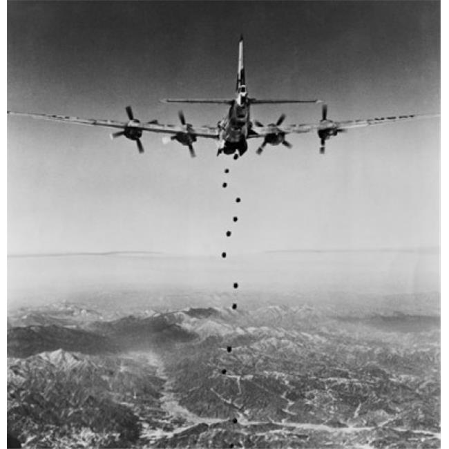 Superstock SAL2553956 B-29 Superfortress Dropping Bombs During War Korean War North Korea 1951 Poster Print, 18 x 24 - image 1 de 1