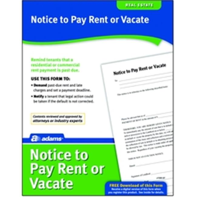 Adams LF280 Notice To Pay Rent Or Quit Form