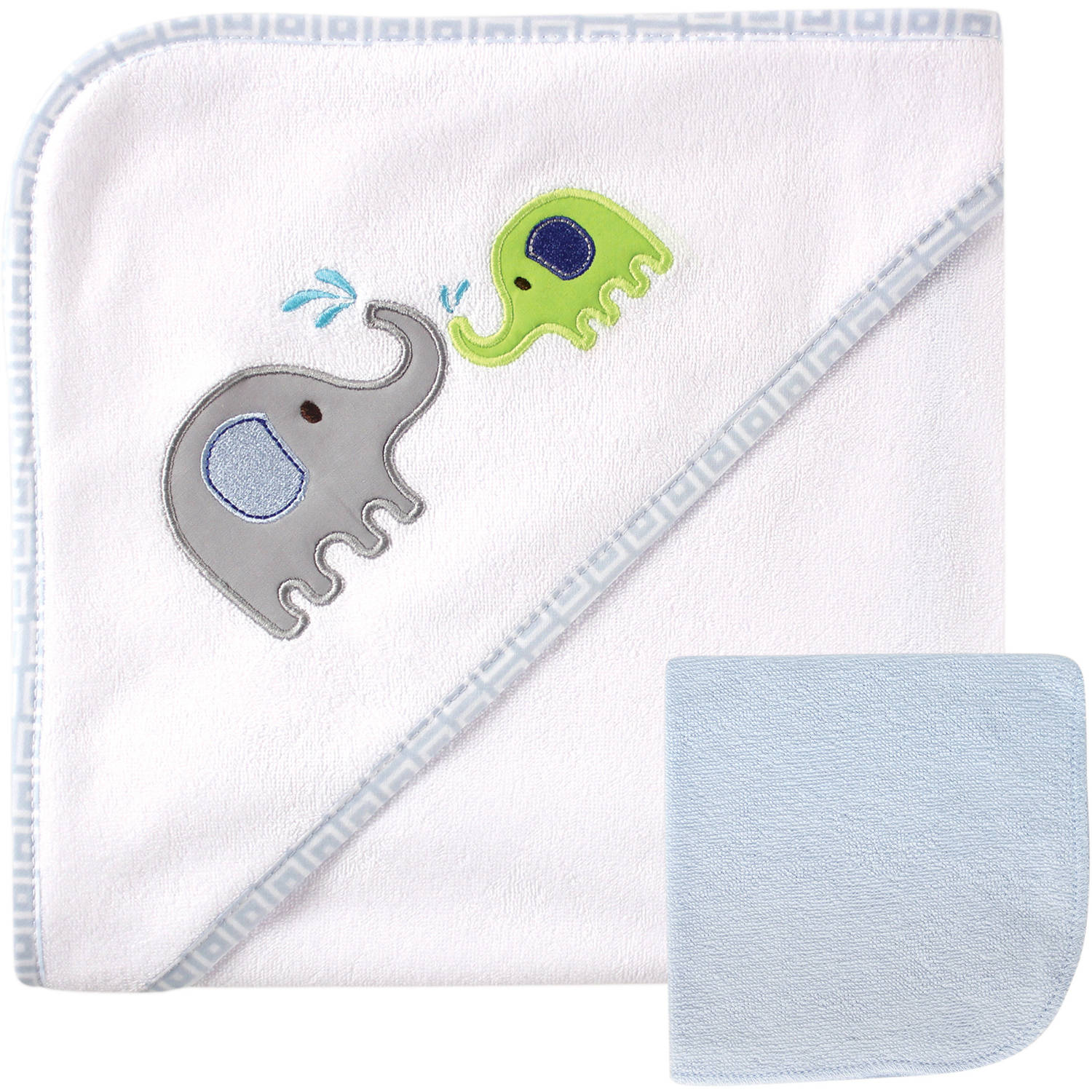 Luvable Friends Hooded Towel with Washcloth, Choose Your Color