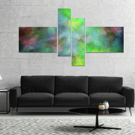 - DESIGN ART Designart 'Green Blue Sky with Stars' Abstract Canvas Art Print