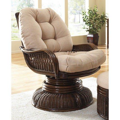 Hospitality Rattan Legacy Swivel Rocking Chair with Cushion