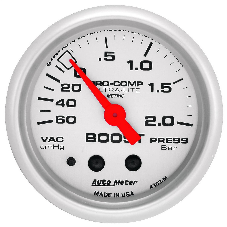 Auto Meter 4303 Ultra-Lite Mechanical Boost//Vacuum Gauge